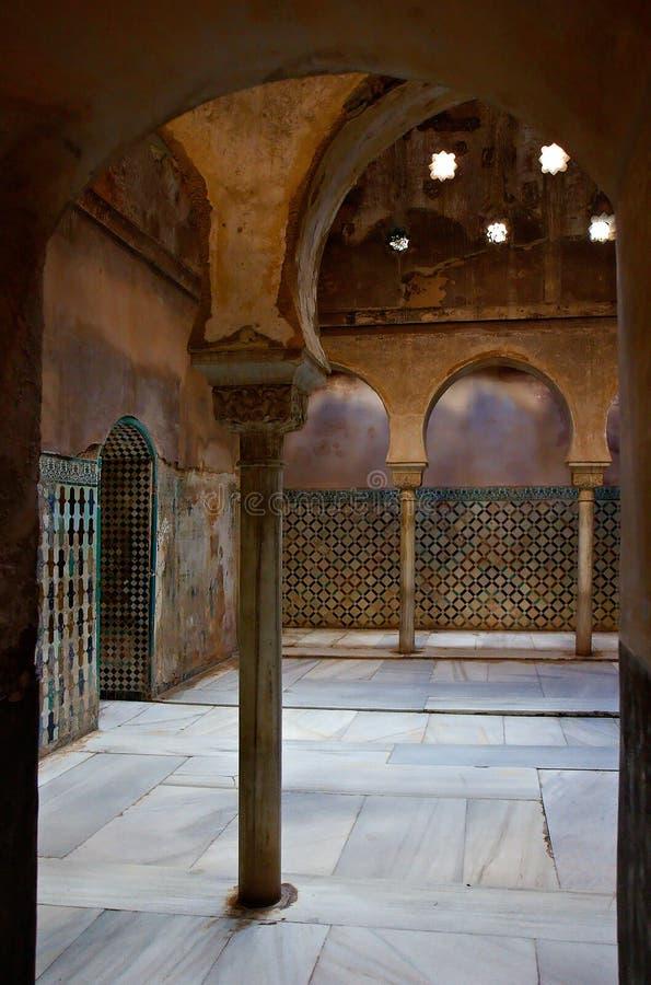 Eingang zum steambath im Alhambra stockfoto