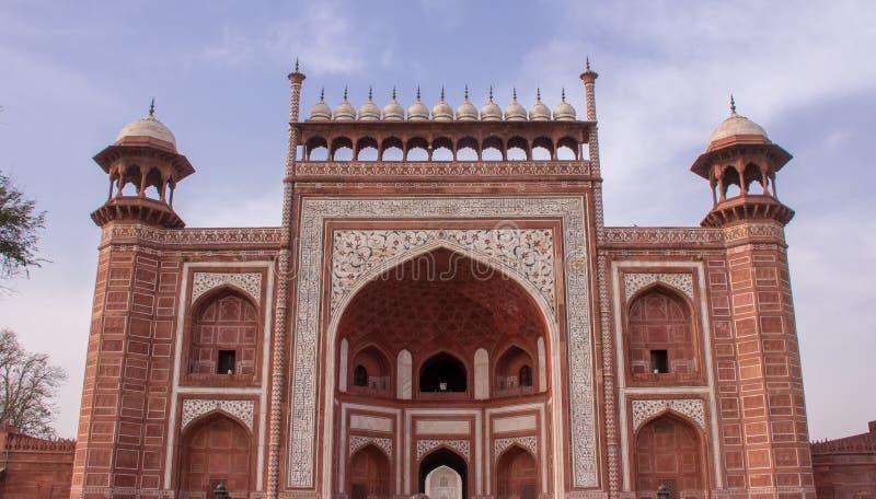 Eingang zum Taj Mahal lizenzfreies stockbild