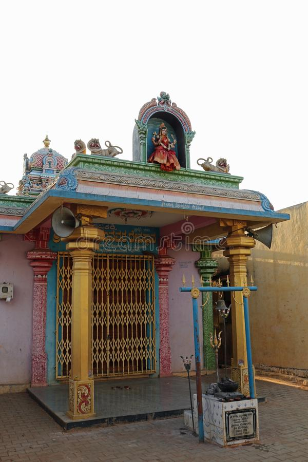Eingang zum Tempel Lakshmiramana Swamy stockbild
