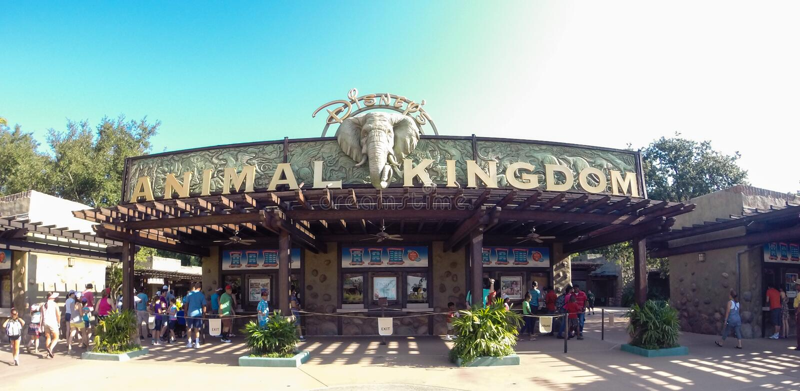Eingang zum Tierreich bei Walt Disney World lizenzfreie stockfotos