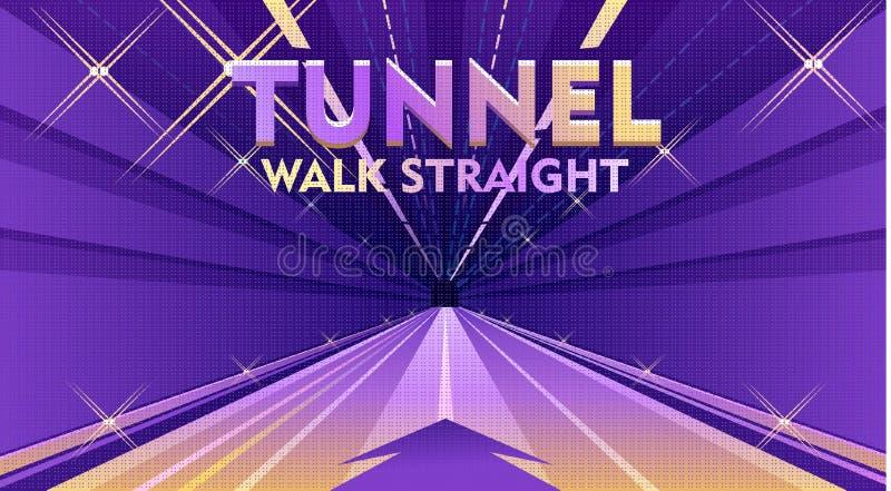 Eingang zum Tunnel lizenzfreie abbildung