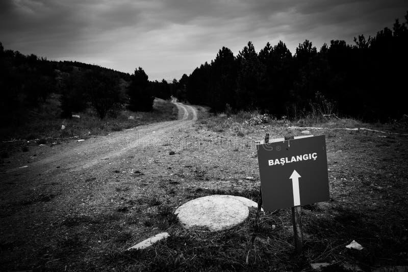 Eingang zum verbotenen Holz lizenzfreie stockfotos