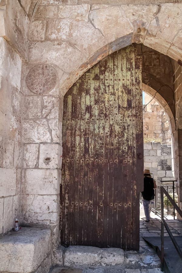 Eingang, zum von David Museum, Jerusalem hochzuragen lizenzfreie stockfotografie