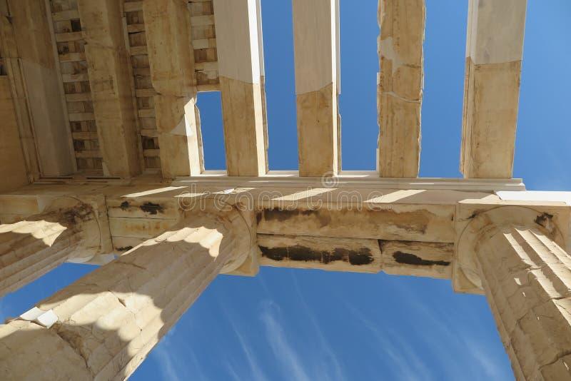 Eingang zur Akropolise Athen, Griechenland lizenzfreies stockfoto