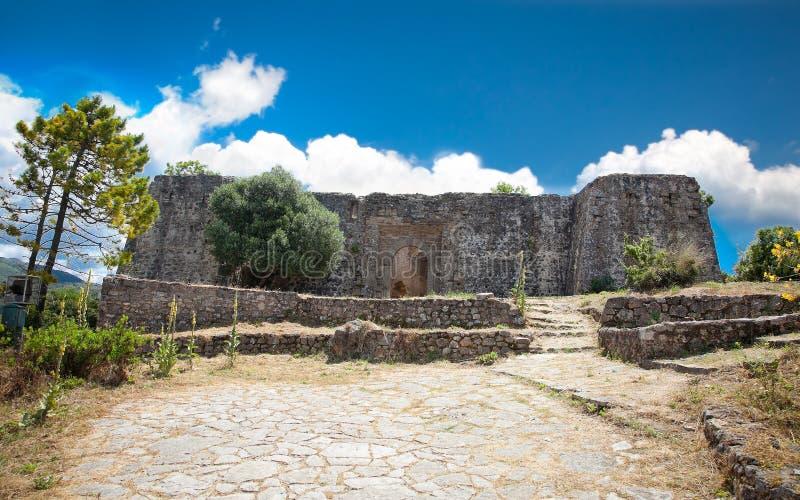 Eingang zur Ali Pasha-` s Festung nahe Agia-Dorf, Griechenland stockbilder