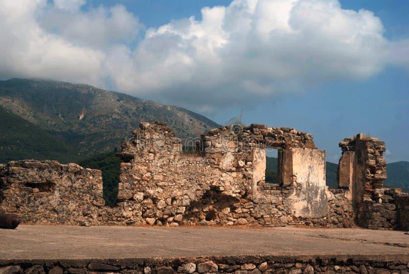 Eingang zur Ali Pasha-` s Festung nahe Parga stockfotografie