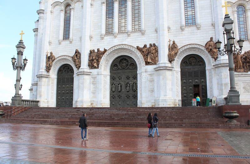 Eingang zur Kathedrale von Christus der Retter stockfotos