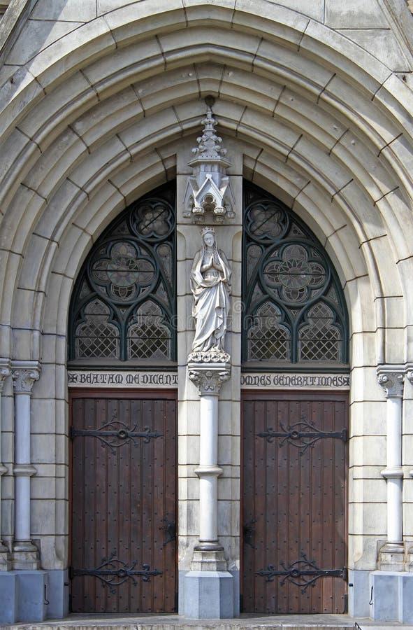 Eingang zur katholischen Kathedrale von Jakarta lizenzfreie stockfotografie