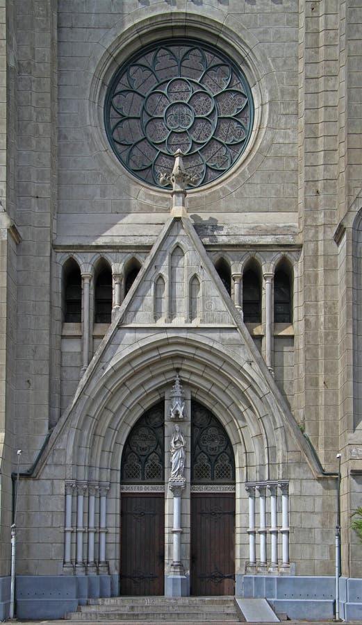Eingang zur katholischen Kathedrale von Jakarta lizenzfreies stockfoto