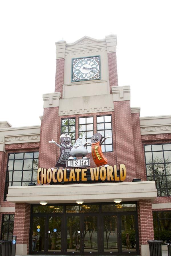 Eingang zur Schokoladen-Welt lizenzfreies stockfoto