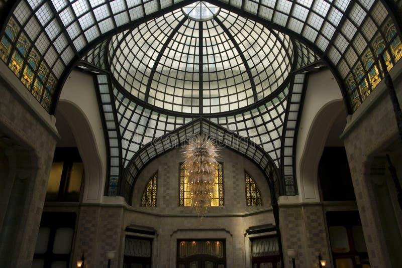 Eingangshalle des Gresham Hotels in Budapest stockfotos