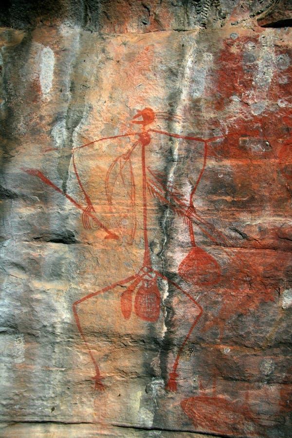Eingeborene Felsen-Kunst stockfotografie