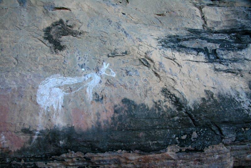 Eingeborene Felsen-Kunst - Australien lizenzfreie stockbilder