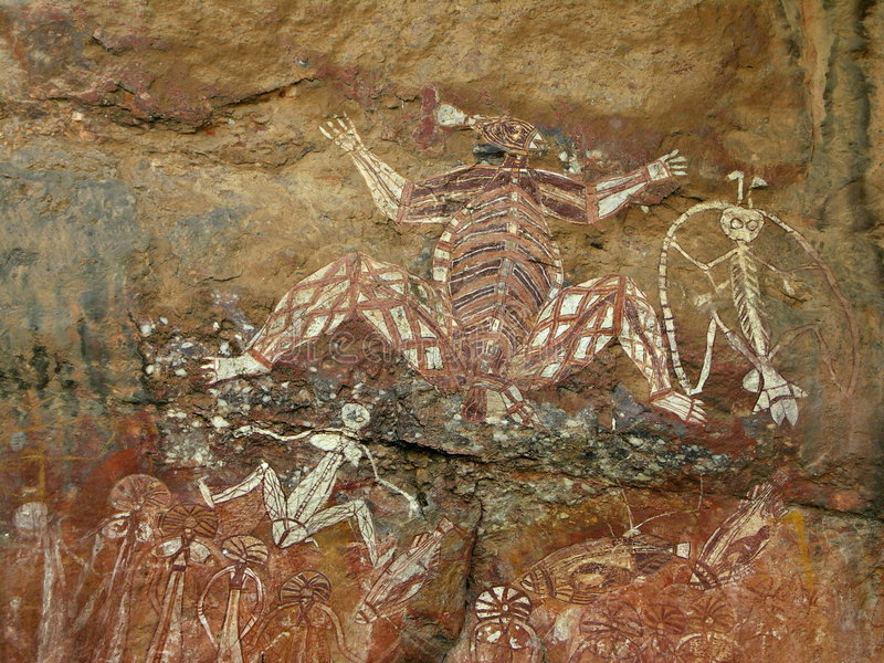 Eingeborene Felsen-Kunst - Kakadu lizenzfreies stockfoto