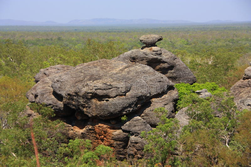 Eingeborene Felsenkunst an Nationalpark Kakadu, Nordterritorium, Australien lizenzfreie stockfotografie