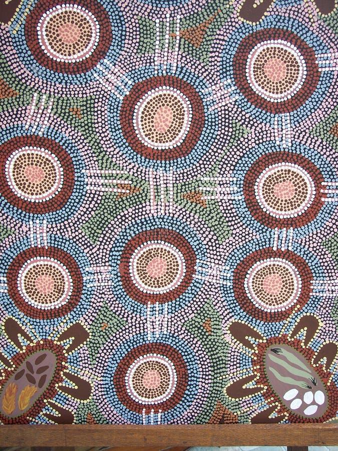 Eingeborenes Wandgemälde lizenzfreies stockfoto
