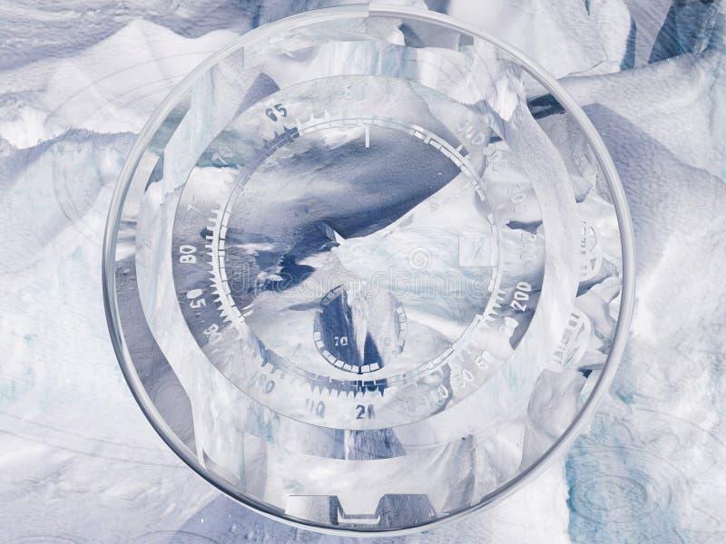 Eingefroren in der Zeit stock abbildung