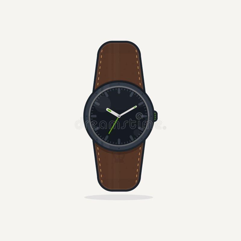 Eingehender Anruf Digital-Armbanduhr lizenzfreie abbildung