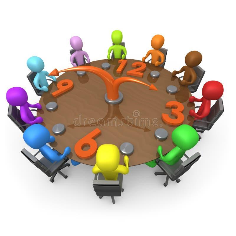 Eingeplante Sitzung lizenzfreie abbildung