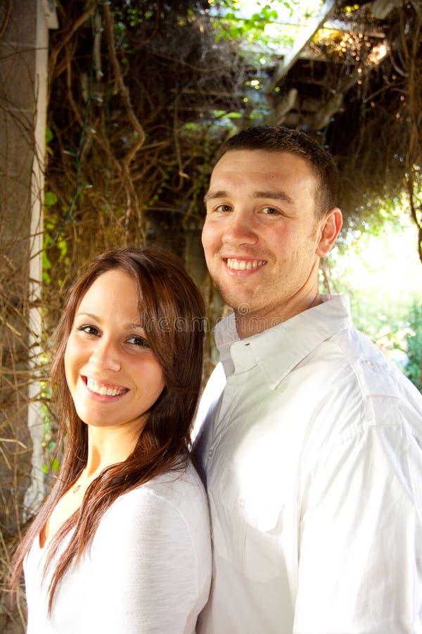Eingerückte Paare stockbild