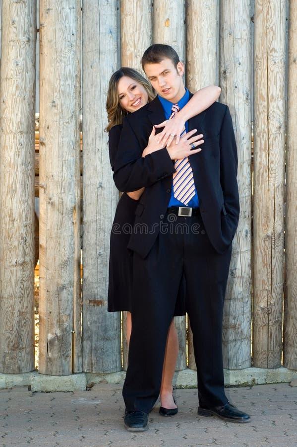 Eingerückte Paare stockfoto