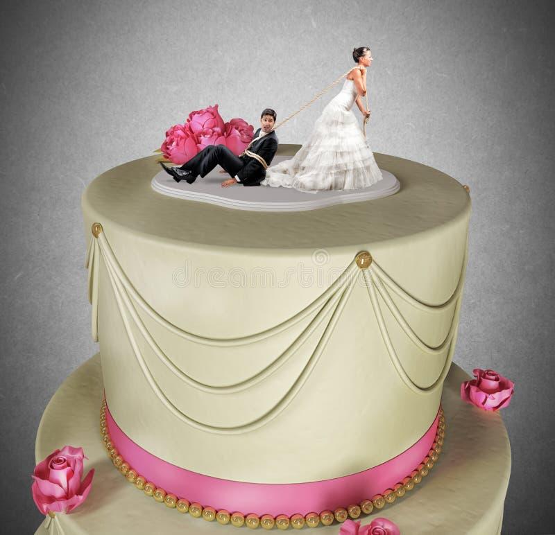 Eingeschlossen durch Heirat stockbilder