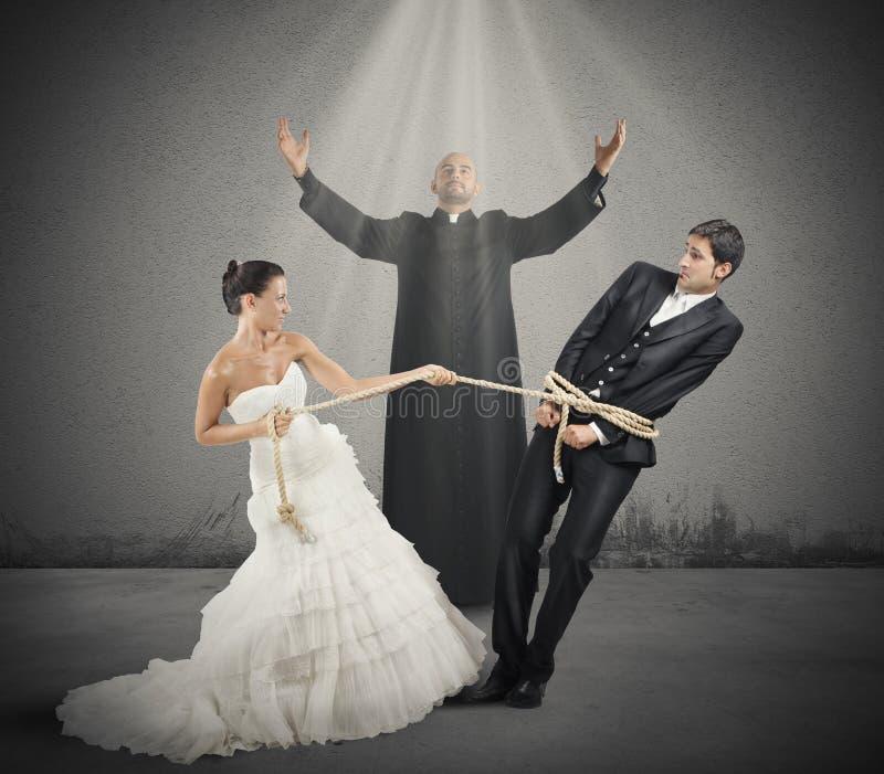 Eingeschlossen durch Heirat stockbild