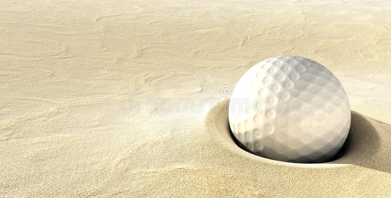 Eingesteckter Golfball lizenzfreie stockbilder