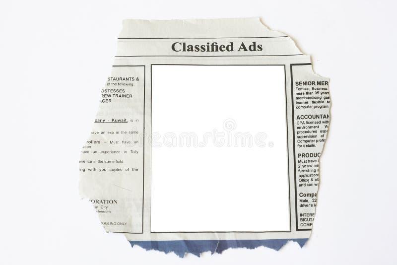 Eingestufte Anzeigen lizenzfreies stockbild