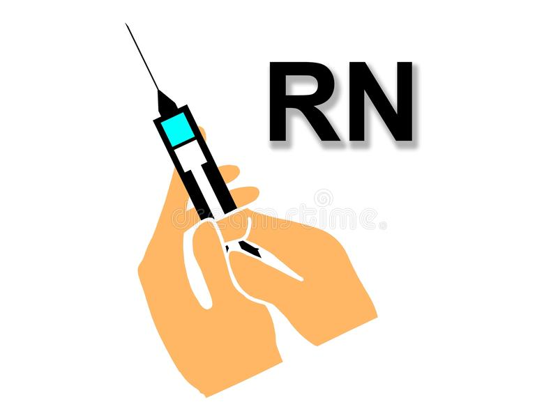 Eingetragene Krankenschwester RN lizenzfreie abbildung