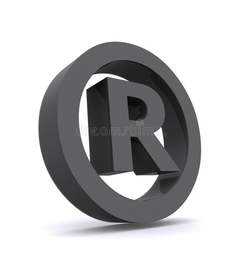 eingetragene Markierung 3D lizenzfreie abbildung
