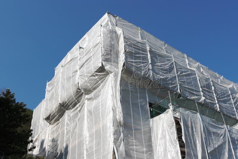 Download Eingewickeltes Gebäude An Der Baustelle Stockbild - Bild von gehäuse, architektur: 26373091