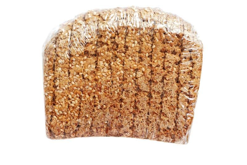 Eingewickeltes vollständiges Brot stockfoto