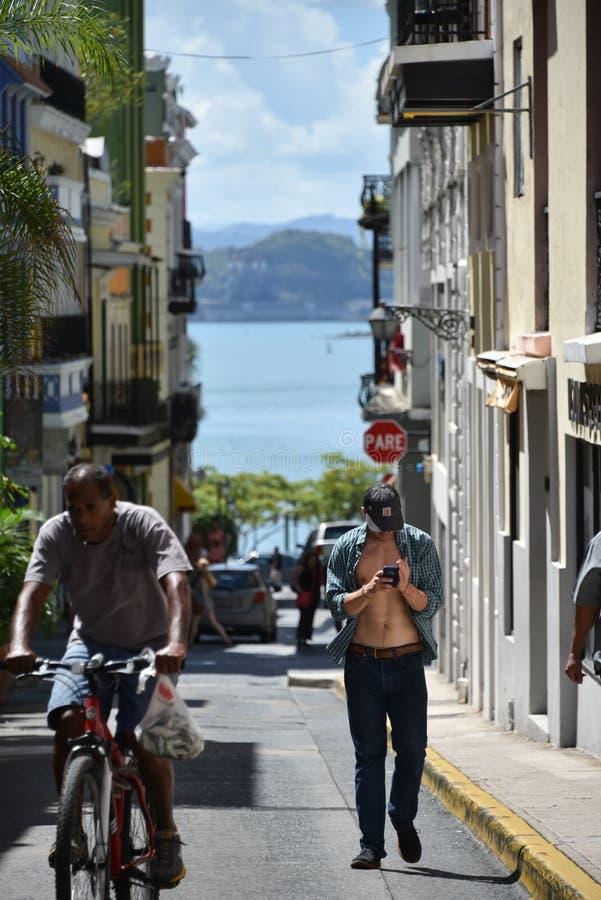 Einheimische in San Juan, Puerto Rico stockbild