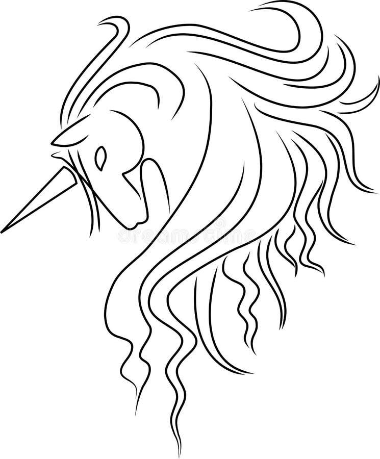 Einhorn stock abbildung
