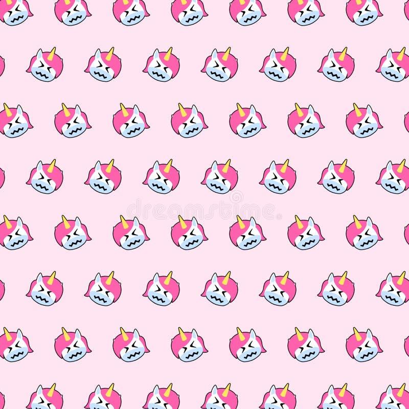 Einhorn - emoji Muster 49 vektor abbildung