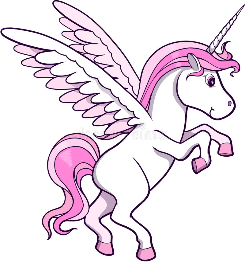 Einhorn-Pegasus-Vektor stock abbildung