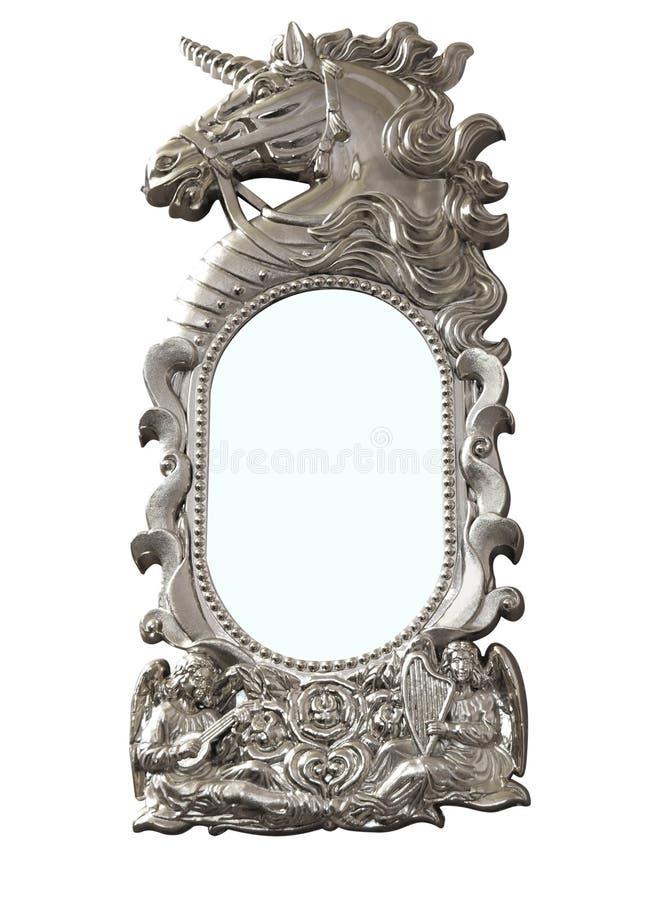 Download Einhorn-Spiegel stockbild. Bild von weiß, hupe, dekorativ - 9082971