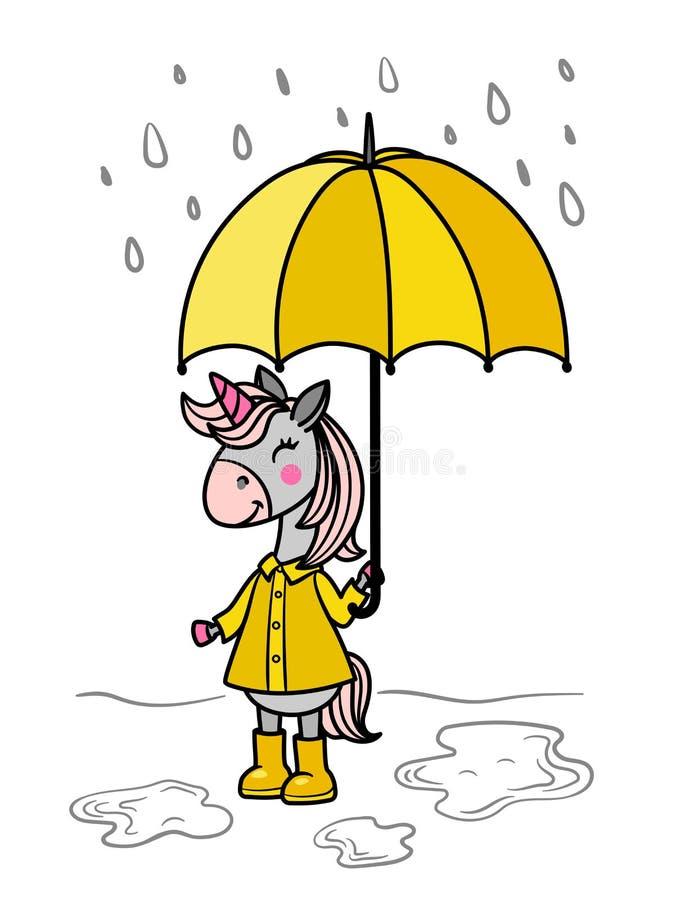 Einhornregenschirm vektor abbildung