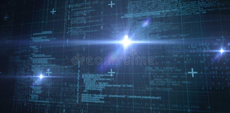 Einige blaue Matrix und Codes vektor abbildung