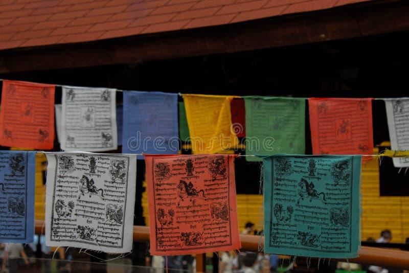 Einige Flaggen von der Ausstellung stockfoto
