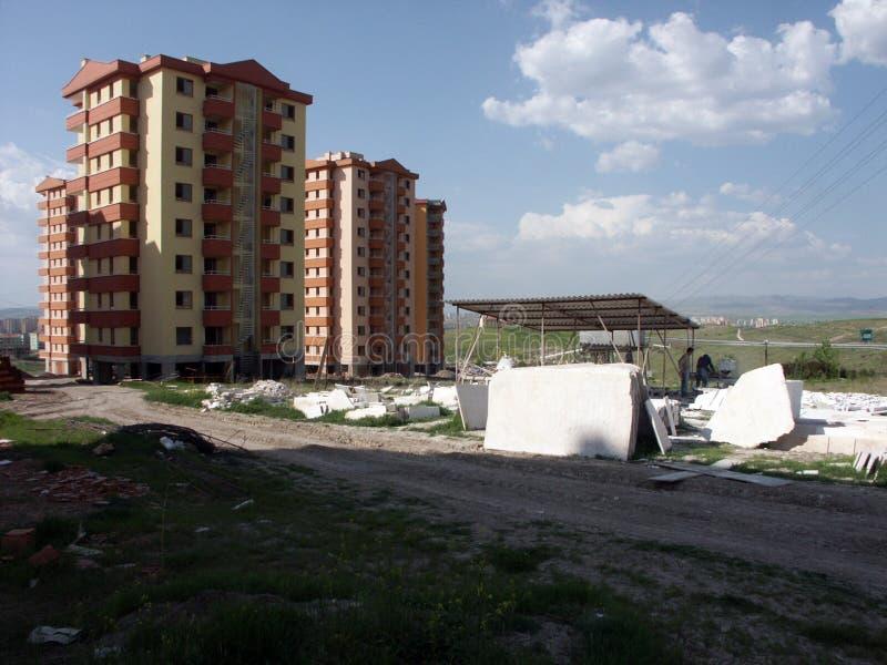 Einige Gebäude von den verschiedenen Regionen von Türkei-, Sozialwohnungs- und Industriebautenproben stockfotos