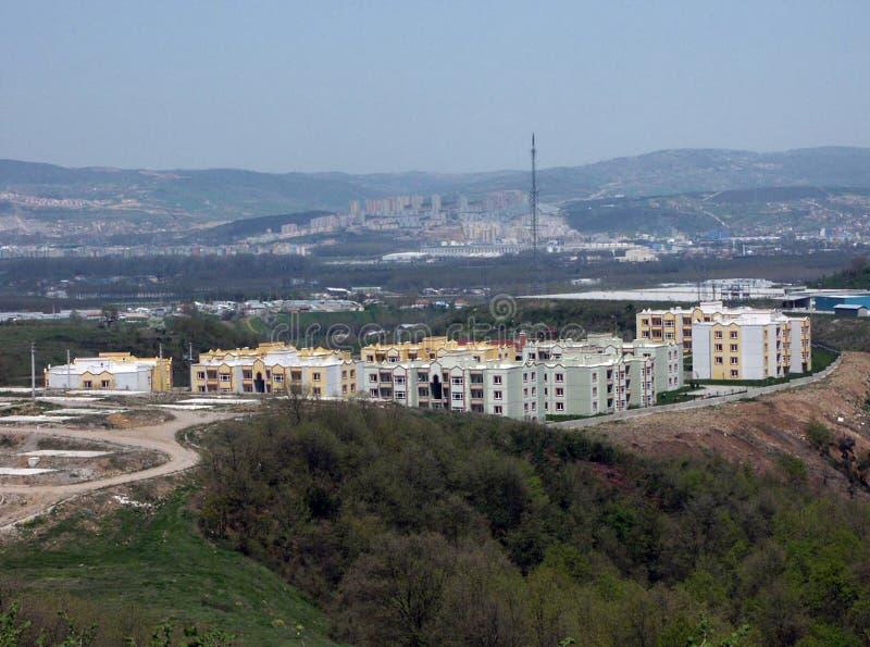 Einige Gebäude von den verschiedenen Regionen von Türkei-, Sozialwohnungs- und Industriebautenproben lizenzfreie stockfotografie