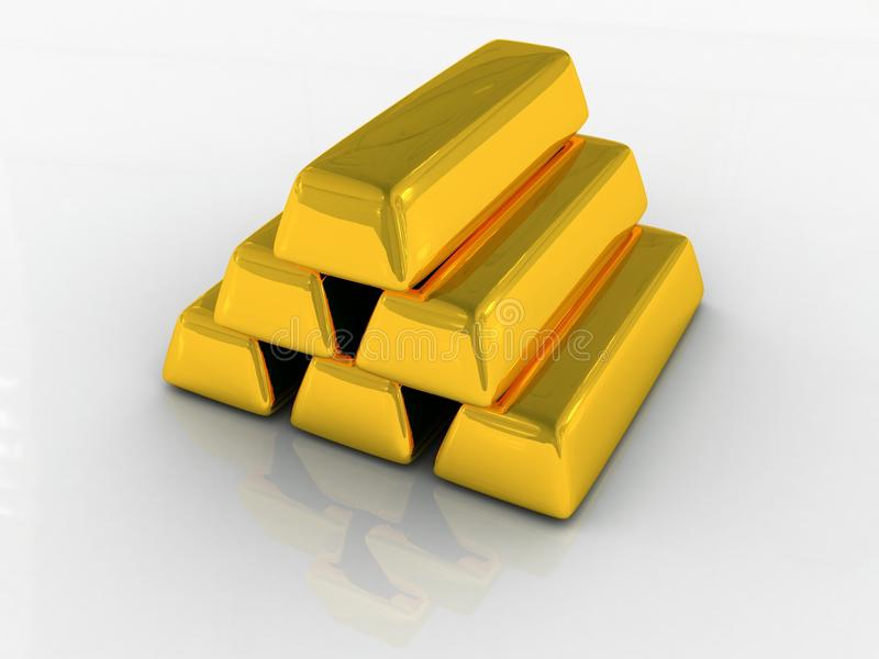 Einige Goldbarren stock abbildung