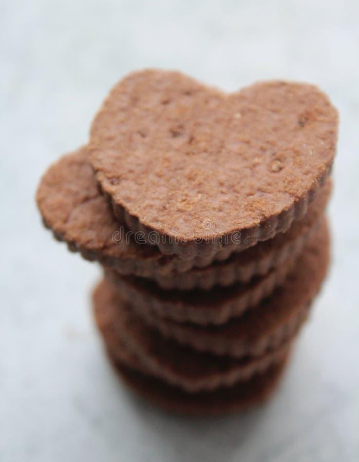 Einige Herz ähnliche Kuchen lizenzfreies stockbild