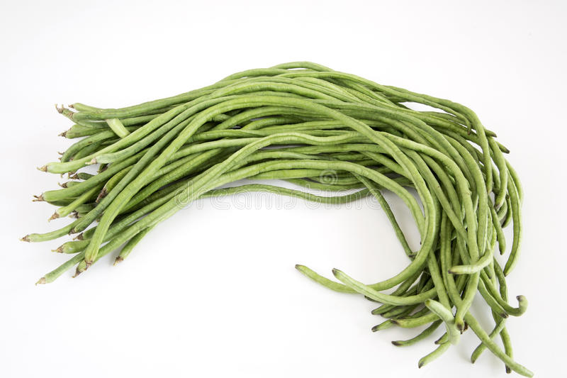 Einige lange Bohnen stockbild
