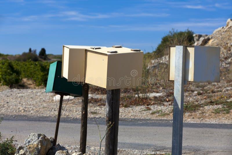 Einige Mailboxes lizenzfreies stockfoto