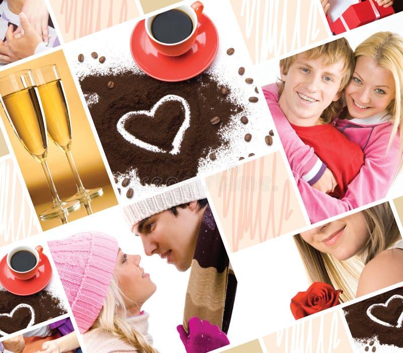 Einige Sachen über Liebe stockbild