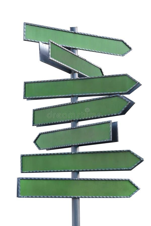 Einiges Zeichenvertretung in der verschiedenen Richtung lokalisiert auf Weiß stock abbildung