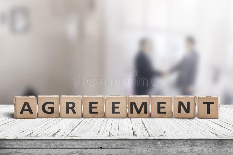 Einigung mit Geschäftsleuten lizenzfreie stockbilder